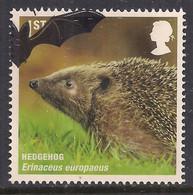 GB 2010 QE2 1st Mammals Hedgehog SG 3063 Ex FDC ( A762 ) - Gebraucht