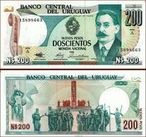 ♛ URUGUAY - 200 Nuevos Pesos 1986 UNC P.66 - Uruguay