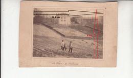 Le Champ De Malvières - Photographie Sur Carton De 1886 - Other Municipalities