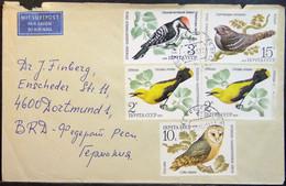 USSR - Cover To Germany 1979 Birds Owl - Gaviotas