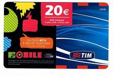 Ricarica TIM MTV20-P, ETU-D3, MTV MOBILE, Taglio 20 Euro, Scadenza Giu. 2011 Usata - GSM-Kaarten, Aanvulling & Voorafbetaald