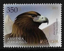 "ARMENIA /ARMÉNIE /ARMENIEN  -EUROPA 2021 - ""ENDANGERED NATIONAL WILDLIFE""-  SERIE 1 V. - N - - 2020"