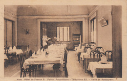 (197) CPA  Ham   Hôtel De France Salle De Restaurant - Ham