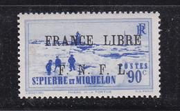 SAINT PIERRE ET MIQUELON FRANCE LIBRE 262 LUXE NEUF SANS CHARNIERE MNH - Neufs