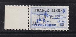 SAINT PIERRE ET MIQUELON FRANCE LIBRE 277 LUXE NEUF SANS CHARNIERE MNH - Ongebruikt