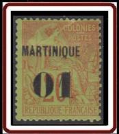 Martinique 1886-1892 - N° 03 (YT) N° 6 (AM) Neuf *. - Neufs