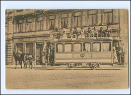 XX14909/ Dresden Pferdebahn Verkehrsmittel . Einst Und Jetzt! Ca.1912 AK  - Dresden