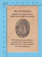 Ancienne Enveloppe Pour Suplique A Mettre Au Pied De La Statue De La Bonne Sainte Anne Durant La Nevaine - Religione & Esoterismo