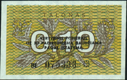 ♛ LITHUANIA - 0,10 Talonas 1991 {Lietuvos Respublika} UNC P.29 B - Lithuania