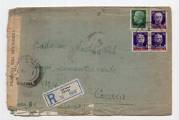 1942 WWII ITALY,ITALIAN OCCUPATION OF MONTENEGRO,CETINJE TO KAVAJA,ALBANIA,CONCENTRATION CAMP,REGISTERED COVER,CENSOR - Montenegro
