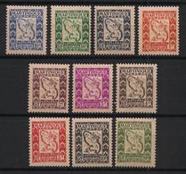 Martinique - 1947 - Taxe TT N°Yv. 27 à 36 - Série Complète - Neuf Luxe ** / MNH / Postfrisch - Timbres-taxe