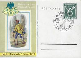 Europa - Deutschland - III Reich  -  1940  Postkarte - Tag Der Briefmarke 7.Januar 1940 - Entiers Postaux