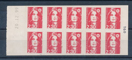 P-657: FRANCE: Lot Avec Carnets N°2630 C2a (ERREUR DE DATE) - Standaardgebruik