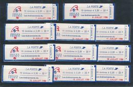 P-662: FRANCE: Lot Avec 11 Carnets Fermés  N°  2376 C12A     (tous Avec 3 Bordures Bleues) Faciale De 36.89 Euros - Standaardgebruik