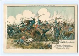 XX14950/ Sedan 1. Sept. 1870 Feldartillerie-Regiment Oaranien  Litho AK Ca.1910 - Ohne Zuordnung
