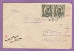 """BRIEF AUS KARLOVAC (B. MARKE MIT PLATTENFEHLER """"VG"""" STATT """"VO"""") NACH BERLIN. - Lettres & Documents"""