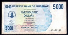 641-Zimbabwe  5000$ 2007 AB707 - Zimbabwe