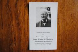 5402/Henri-A-A Comte D'Hanins De Moerkerke-Bourgmestre HOUTAIN-le-Val 1881/1963 - Décès