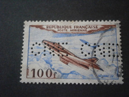 FRANCE PA30 POSTE AERIENNE CNE308 PERFORE PERFORES PERFIN PERFINS PERFORATION PERFORIERT LOCHUNG PERFORATI PERCE PERF - Perfins