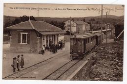 CPA Ligne Chemin Fer Nyon Vaud  Suisse à Morez Gare Tramway électrique Train En Gare Les Rousses Jura éditeur Bellegarde - VD Vaud