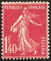 YT 196 (*) MH Semeuse Camée 1924-26 1f40 Rose (côte 21 Euros) France – Flo - 1906-38 Sower - Cameo