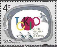 POLAND, 2021, MNH, TOKYO OLYMPICS, 1v - Summer 2020: Tokyo