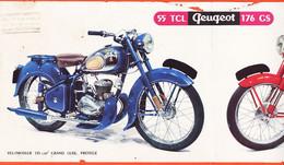 VEN233 ♥️ CASTRES Tarn TABARLY Cycles-Moto Rue GAMBETTA Dépliant Publicitaire 1953-54 Motocyclette PEUGEOT 55 TCL 176 GS - Publicités