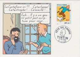 Bt - Carte Postale TINTIN, Fête Du Timbre 2000 (Cachet Antibes) - Comics