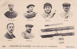 L'équipe Des Pilotes Du Biplan H Farman  (pk82546) - ....-1914: Precursori
