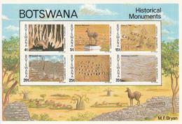 1977 Botswana Historical Monuments Caves Ruins Souvenir Sheet MNH - Botswana (1966-...)