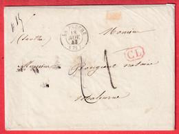TAXE 1 FABRICATION LOCALE LA FLECHE SARTHE + CL ROUGE + TAXE 2 DOUBLE PORT LOCAL MENTION DU POIDS 15G 1843 - 1801-1848: Precursori XIX