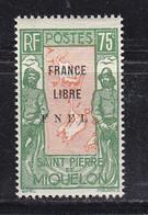 SAINT PIERRE ET MIQUELON FRANCE LIBRE 286 LUXE NEUF SANS CHARNIERE MNH - Ongebruikt