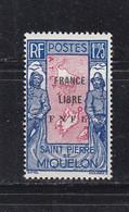 SAINT PIERRE ET MIQUELON FRANCE LIBRE 287 LUXE NEUF SANS CHARNIERE MNH - Unused Stamps