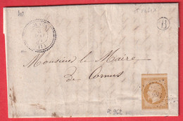 N°11 PC 962 CORNUS AVEYRON CAD TYPE 22 BOITE RURALE B ST FELIX POUR CORNUS INDICE 12 - 1849-1876: Période Classique