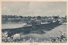 Mombasa Kenya Nyali Bridge Scene On C1930s Vintage Tuck's Souvenir Letterview Small Sheet - Kenia
