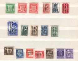 Deutsche Besetzung II . WK , Lot Ungebrauchter Marken , Zara Ohne Gummi - Occupazione 1938 – 45
