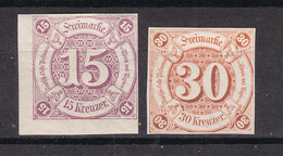 Thurn Und Taxis - 1859 - Michel Nr. 24/25 - Ungebr. - Thurn And Taxis