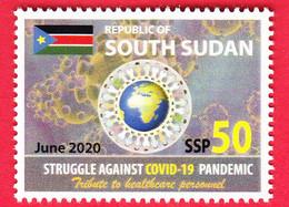 SOUTH SUDAN 50 SSP 2020 Stamp Issue Health Workers Fighting Covid-19 Pandemic SOUDAN Du Sud Südsudan - Zuid-Soedan
