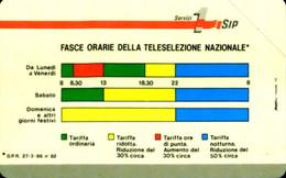 G 2 C&C 1102A SCHEDA TELEFONICA NUOVA SMAGNETIZZATA FASCE ORARIE 10 12.89 PIK L. 260 - Pubbliche Tematiche