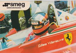 FERRARI FORMULA 1-GILLES VILLENEUVE-SMEG ELETTRODOMESTICI-CARTOLINA-NON VIAGGIATA - Grand Prix / F1