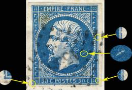France - Yv.14A 20c Empire T.1 Planché Pos. 084D1 - Obl. Pc 1558 (ISSOIRE) - TB Sur Fragment - 1853-1860 Napoléon III