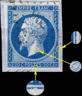 France - Yv.14A 20c Empire T.1 Planché Pos.088D4 - Obl. Pc 796 (CHÂTEAUROUX) - B/TB Sur Fragment - 1853-1860 Napoléon III