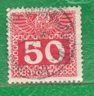 1 Austria 1908/10 Yvert Taxe 42 Usado,Used TT: Cifras - Gebruikt