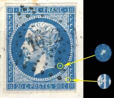 France - PC 1072 DAMPIERRE-DE-L'AUBE (ind.17) Sur Yv.14A 20c Empire T.1 Planché Pos. 075G3 (1er état) - TB- - 1849-1876: Période Classique