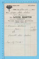 Facture Fleuriste 1945, Louis Martin Sorel, Couronne Mortuaire Juge Elie Salvas - Canada