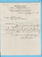 Lettre Compte En Souffrance, Sturgeon Falls Marchant W.L. Fortier, Avec Signature - Canada