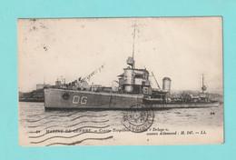 """Contre Torpilleur """"  DELUGE  """"  Ancien Navire Allemand = Voir Description. CARTE Avec DEFAUT Très  Bonne Tenue = Mi 2422 - Guerra"""