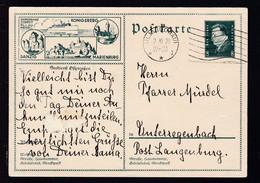 """Ebert 8 Pfg. Mit Bild """"Seedienst Ostpreußen"""", Karte Schürfstelle - Stamped Stationery"""