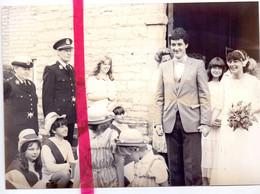 Foto Persfoto - Beigem Grimbergen - Huwelijk Annemie Spaens X Politieagent H. Nys - 30 Juli 1981 - Non Classés