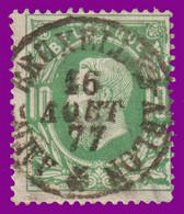 """COB 30 - Belle Oblitération - Ambt. """"BRUXELLES - ARLON"""" 16 Aout 77 - 1869-1883 Leopold II"""